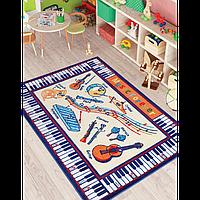 Ковер в детскую комнату Confetti - Music Anti-Slip 01 бежевый 133 х190 см, Турция
