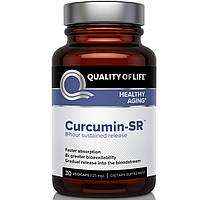 Quality of Life Labs, Куркумин-SR, здоровое старение, 125 мг, 30 вегетарианских капсул, купить, цена, отзывы