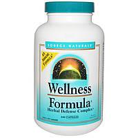 Source Naturals, Wellness Formula, защитный комплекс трав, 240 капсул, купить, цена, отзывы