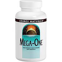 Source Naturals, Mega-One, Высокоэффективные мультивитамины и минералы, 180 таблеток, купить, цена, отзывы