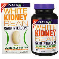 Natrol, Carb Intercept, Фаза 2 белая фасоль, 120 капсул, купить, цена, отзывы