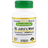 California Gold Nutrition, EuroHerbs Зверобой XT 300 mg, VC EM, 60 карат, купить, цена, отзывы