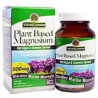 Nature's Answer, Растительный магний, 500 мг, 90 вегетарианских капсул, купить, цена, отзывы