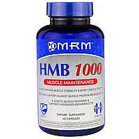 MRM, HMB 1000 для поддержания мышц, 60 капсул, купить, цена, отзывы