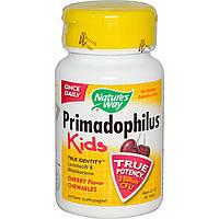 Nature's Way, Примадофилус, для детей от 2 до 12 лет, в жевательном виде со вкусом вишни, 30 таблеток, купить, цена, отзывы