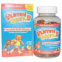 Hero Nutritional Products, Yummi Bears, мультивитаминный комплекс, с натуральным фруктовым вкусом, 90 жевательных медвежат, купить, цена, отзывы