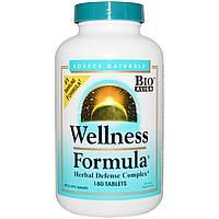 Source Naturals, Wellness Formula, с андрографисом и экстрактом пчелиного прополиса, 180 таблеток, купить, цена, отзывы