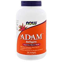 Now Foods, ADAM, мужской поливитамин высшего класса, 180 желатиновых капсул, купить, цена, отзывы