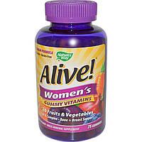Nature's Way, Alive! Женские жевательные витамины, 75 жевательных мармеладок, купить, цена, отзывы