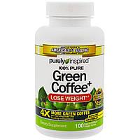 Purely Inspired, Green Coffee+, 100 Veggie Tablets, купить, цена, отзывы