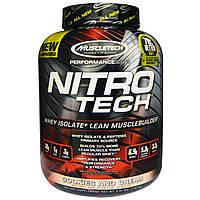Muscletech, Nitro Tech, сывороточный изолят для наращивания сухой мышечной массы, со вкусом печенья с кремом, 3.97 фунта (1.8 кг), купить, цена,