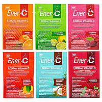 Ener-C, Витамин C, порошкообразная шипучая смесь для питья, ассорти, 6 пакетов, купить, цена, отзывы