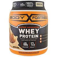 Body Fortress, Супер современный порошок из сывороточного протеина, коричный вихрь, 2 фунта (907 г.)