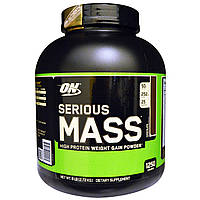 Optimum Nutrition, Serious Mass,High Protein Gain Powder, Chocolate, 6 lbs (2.72 kg), купить, цена, отзывы