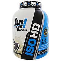 BPI Sports, ISO HD, 100% изолят и гидроизолят протеина, печенье и крем, 5,3 фунта (2398 г), купить, цена, отзывы