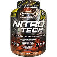 Muscletech, Серия Performance, Nitro-Tech, сывороточный изолят + наращивание мышечной массы, со вкусом молочного шоколада, 3,97 фунта (1,80 кг),
