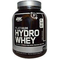 Optimum Nutrition, Спортивное питание Platinum Hydrowhey со вкусом шоколада, 1.590 г