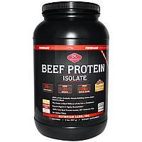 Olympian Labs Inc., Эффективное спортивное питание, изолят говяжьего белка, шоколад, 2 фунта (907 г), купить, цена, отзывы