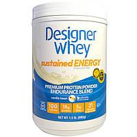 Designer Protein, Дизайнерская молочная сыворотка, премиальный белковый порошок, смесь для выносливости, стручок ванили, 1,5 фунта (680 г), купить,