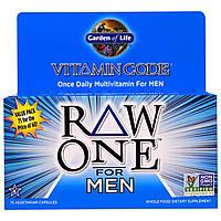 Garden of Life, Код витамина, Ряд первый, один раз в день Raw поливитамины для мужчин, 75 Veggie Caps, купить, цена, отзывы
