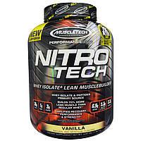 Muscletech, Nitro-Tech, производительная серия, со вкусом ванили, 4 фунта (1.8 кг), купить, цена, отзывы