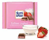 Шоколад молочный Ritter Sport Erdbeer Joghurt (Риттер Спорт с йогуртом), 100 г