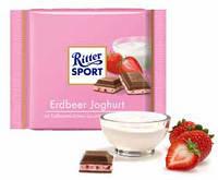 Шоколад молочный Ritter Sport Erdbeer Joghurt (Риттер Спорт с йогуртом), 100 г, фото 2