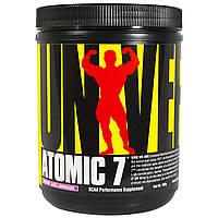 Universal Nutrition, Atomic 7, добавка, аминокислоты с разветвленной цепью, лимонад разз, 402 г, купить, цена, отзывы