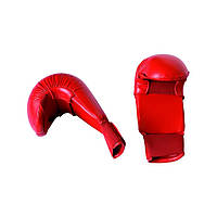 Перчатки для карате без защиты пальца Adidas WKF 2012-2015 (Красные)