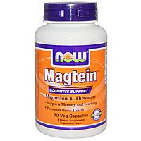 Now Foods, Magtein, магния L-треонат, 90 вегетарианских капсул, официальный сайт