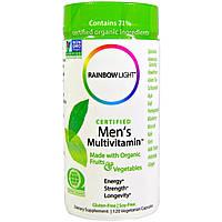 Rainbow Light, Сертифицированный поливитамин для мужчин, 120 капсул на растительной основе, купить, цена, отзывы