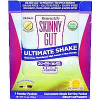 Renew Life, Skinny Gut, Ultimate Shake, Natural Vanilla Flavor , 7 Powder Packets, купить, цена, отзывы
