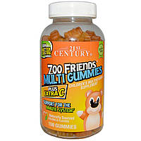 21st Century, Zoo Friends Multi Plus Extra C, 150 gummies, купить, цена, отзывы