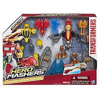 Игровой набор трансформеров Бамблби и Стрейфа - Bumblebee & Strafe, Transformers Hero Mashers, Hasbro