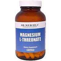 Dr. Mercola, Премиум Добавки , L-Треонат магния, 90 капсул, купить, цена, отзывы