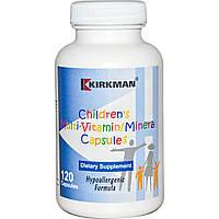 Kirkman Labs, Детские мультивитамины и минералы, 120 капсул, купить, цена, отзывы