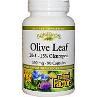 Natural Factors, Оливковое масло, 500 мг, 90 капсул, купить, цена, отзывы