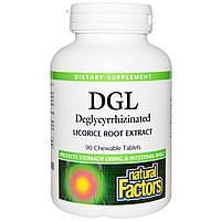 Natural Factors, Глицирризинат корня солодки, 90 жевательных таблеток, купить, цена, отзывы