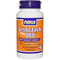 Now Foods, TestoJack 300, 60 растительных капсул, купить, цена, отзывы