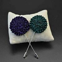 Петличный цветок из ткани брошь в петлицу