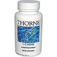 Thorne Research, L-Лизин, 60 растительных капсул, купить, цена, отзывы