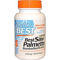 Doctor's Best, Euromed, пальма сереноа, стандартизованный экстракт, 320 мг, 180 мягких таблеток, купить, цена, отзывы