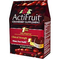 Enzymatic Therapy, ActiFruit, Пищевая добавка на основе клюквы, 20 жевательных конфет, купить, цена, отзывы