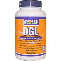 Now Foods, DGL, (деглицирризованный экстракт солодки), 100 пастилок, купить, цена, отзывы