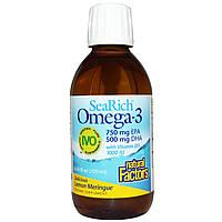 Natural Factors, SeaRich Омега-3 с витамином D3, лимонная меренга, 6,76 жидк. унц. (200 мл), купить, цена, отзывы