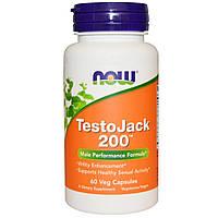 Now Foods, TestoJack 200, 60 вегетарианских капсул, купить, цена, отзывы
