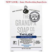 Grandpa's, Мыло для лица и тела от акне Thylox Acne Treatment, 3,25 oz (92 г), купить, цена, отзывы