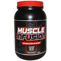 """Nutrex Research Labs, """"Энергия мышц"""", усовершенствованная протеиновая смесь, ваниль, с кусочками печенья, 2 фунта (908 г), купить, цена, отзывы"""