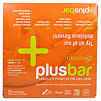 Greens Plus, Vegan Crisp Bars, Peanut Butter & Dark Chocolate, 12 Bars, 1.4 oz (40 g) Each, купить, цена, отзывы