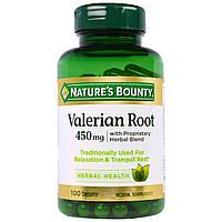 Nature's Bounty, Корень валерианы с фирменной смесью трав, 450 мг, 100 капсул, купить, цена, отзывы